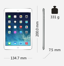 Parametry tabletu Apple iPad Mini Retina