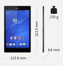 Parametry tabletu Sony Xperia Z3 Tablet Compact
